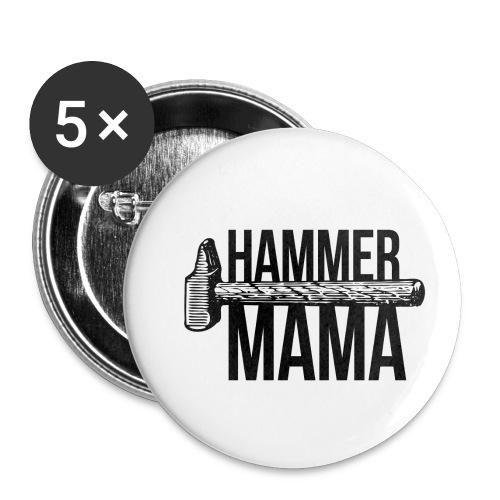 Hammer Mama - Buttons klein 25 mm (5er Pack)