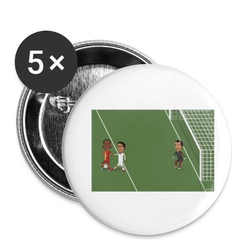 Backheel goal BG - Buttons small 1''/25 mm (5-pack)