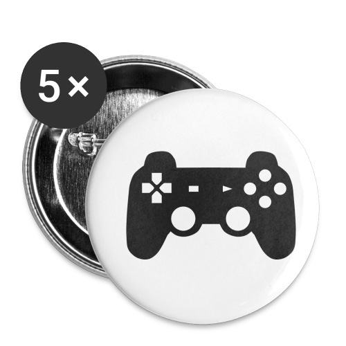 Gaming T-Shirt - Buttons klein 25 mm (5er Pack)