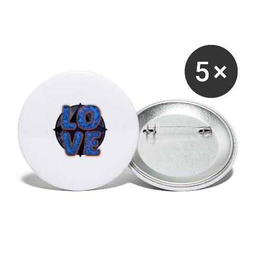 LOVE - Buttons small 1''/25 mm (5-pack)