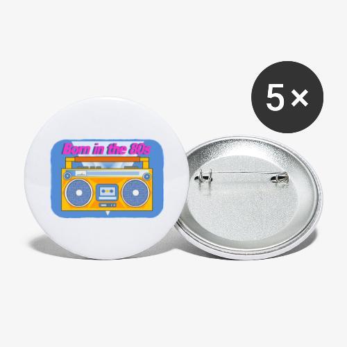Born in the 80s - Lot de 5 petits badges (25 mm)