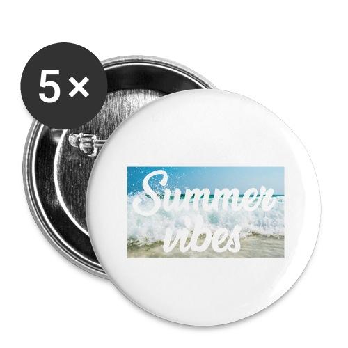Summervibes - Buttons klein 25 mm (5er Pack)