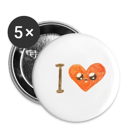 Kids for Kids: heart - Buttons klein 25 mm (5er Pack)
