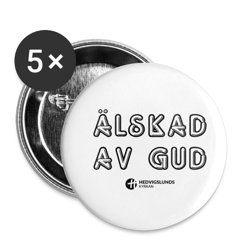 Älskad av Gud - Små knappar 25 mm (5-pack)