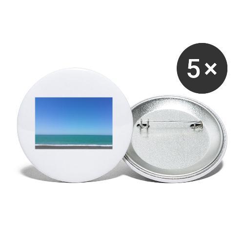 Napier Neuseeland - blauer Himmel, Meer türkis - Buttons klein 25 mm (5er Pack)