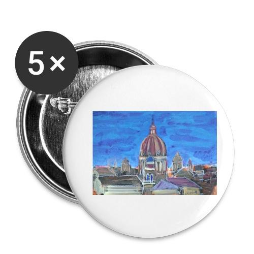 Veduta di Roma - Confezione da 5 spille piccole (25 mm)