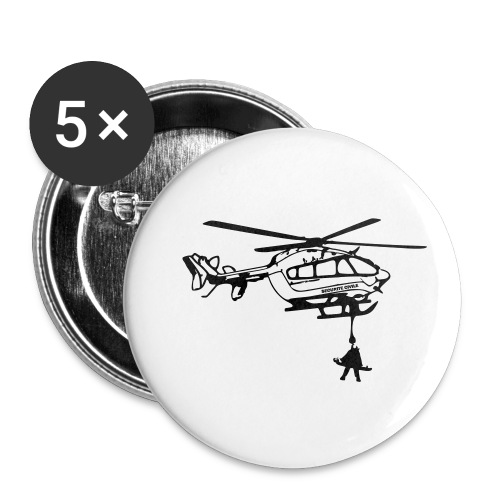 Dragon Securite Civile - Lot de 5 petits badges (25 mm)