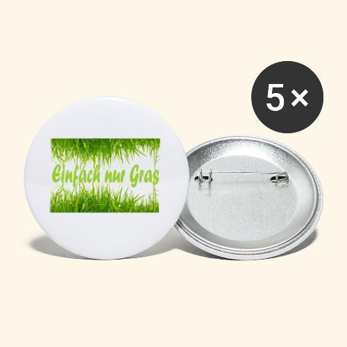 einfach nur gras2 - Buttons klein 25 mm (5er Pack)