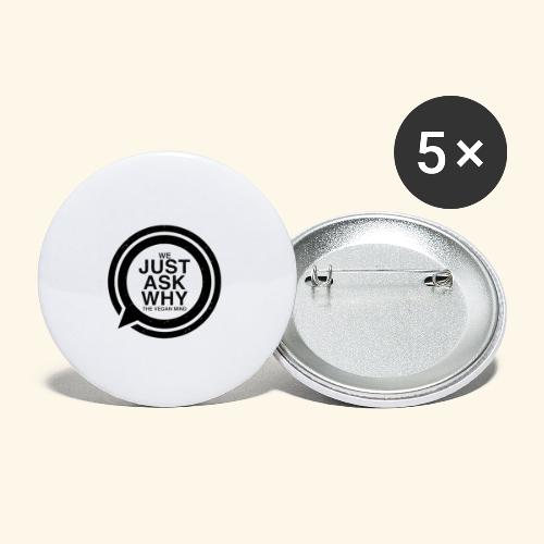 WE JUST ASK WHY - The Vegan Mind - Buttons small 1''/25 mm (5-pack)
