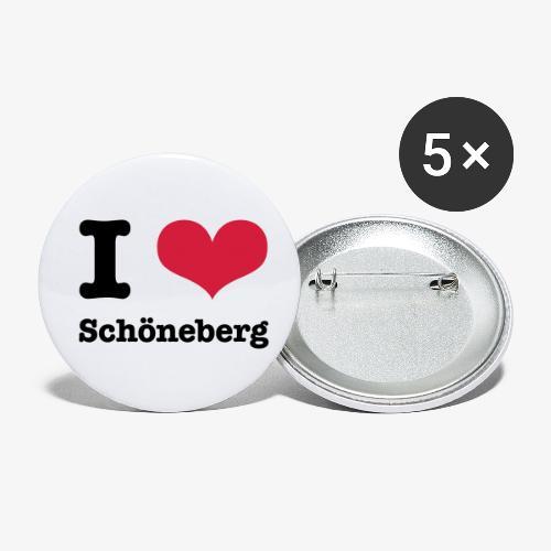 I love Schöneberg - Buttons klein 25 mm (5er Pack)