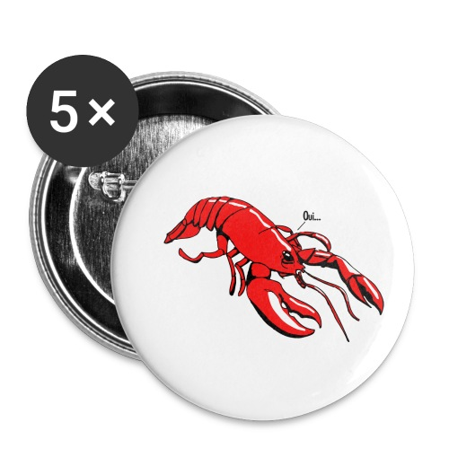 Lobster - Buttons small 1''/25 mm (5-pack)