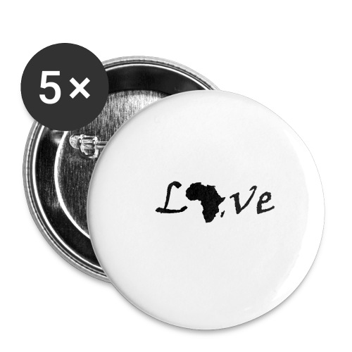 Love Africa - Buttons klein 25 mm (5er Pack)