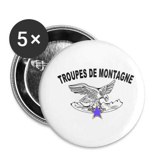 choucasTDM dos - Lot de 5 petits badges (25 mm)