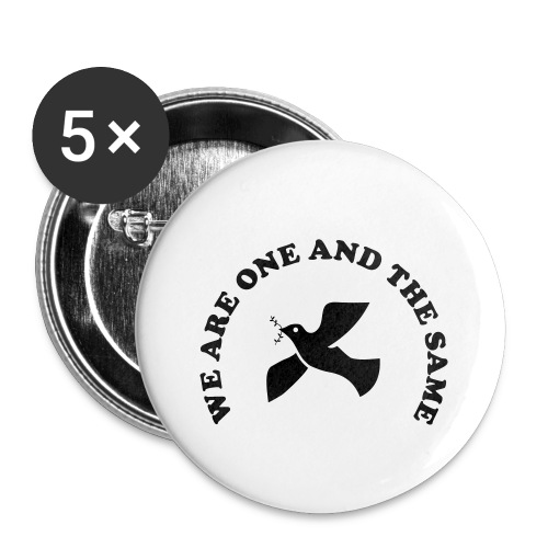 We are one and the same - Buttons small 1''/25 mm (5-pack)