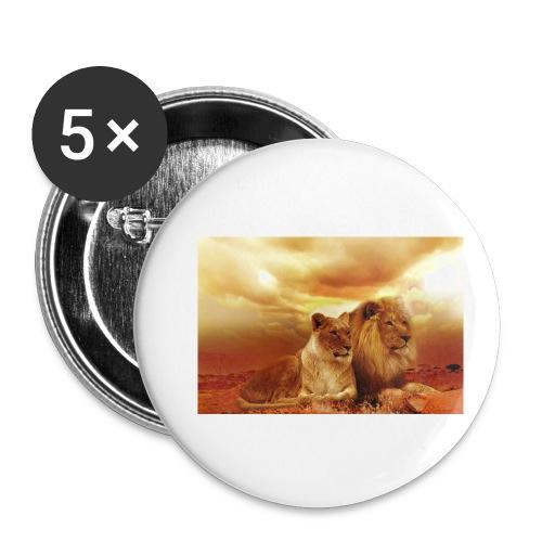 Löwen Lions - Buttons klein 25 mm (5er Pack)