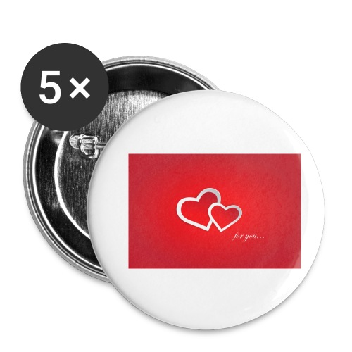 for you - Buttons klein 25 mm (5er Pack)