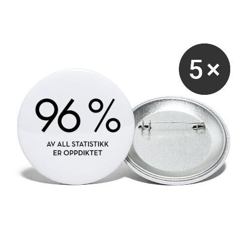 Statistikk-sprøyt (fra Det norske plagg) - Liten pin 25 mm (5-er pakke)