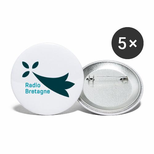 Logo Radio Bretagne - Lot de 5 petits badges (25 mm)