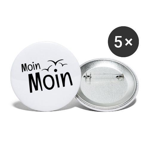 Moin Moin mit Möwen - Buttons klein 25 mm (5er Pack)
