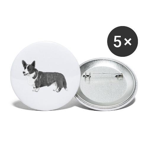 welsh Corgi Cardigan - Buttons/Badges lille, 25 mm (5-pack)