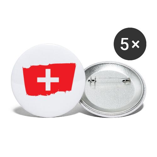 Switzerland - Paquete de 5 chapas pequeñas (25 mm)