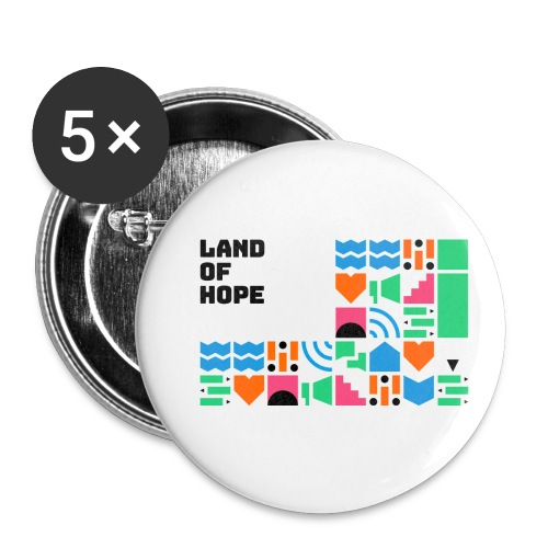 Land of Hope - Buttons small 1''/25 mm (5-pack)