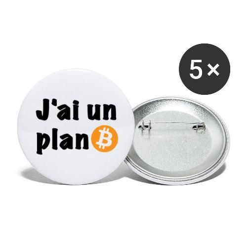 plan Btc - Lot de 5 petits badges (25 mm)
