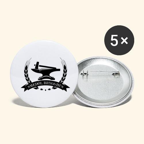 Smedöl Brygghus Logga Svart - Små knappar 25 mm (5-pack)