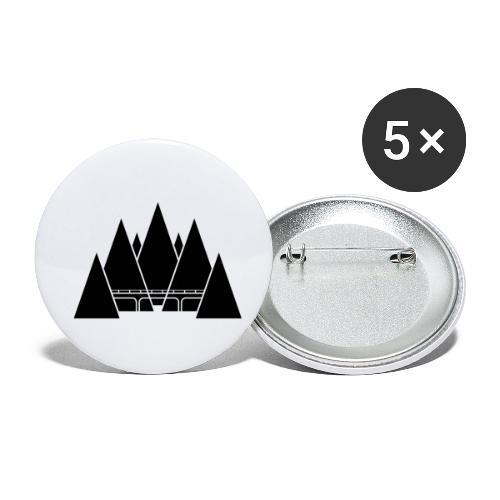 Black Mountain - Confezione da 5 spille piccole (25 mm)