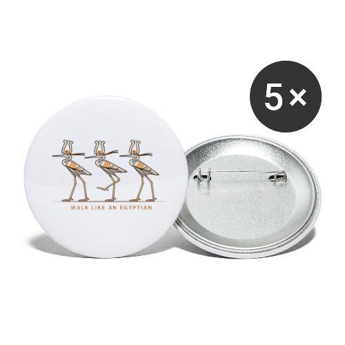 Reiher mit Krone I ÄGYPTEN - Buttons klein 25 mm (5er Pack)
