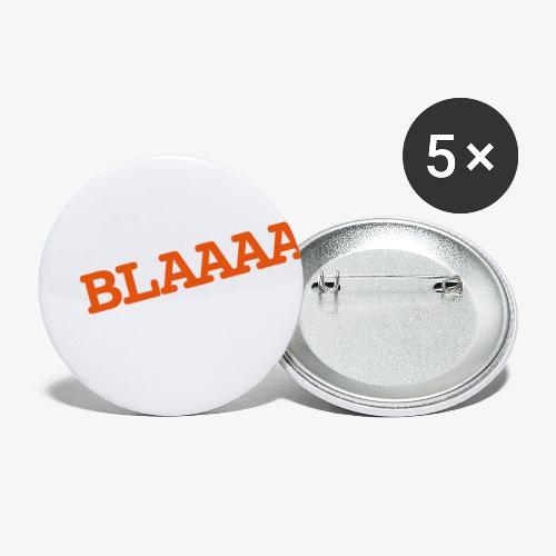 BLAAA schraeg - Buttons klein 25 mm (5er Pack)