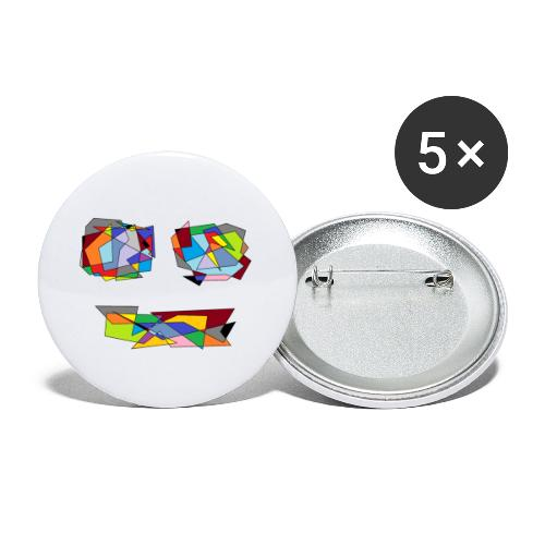 TheFace - Buttons klein 25 mm (5er Pack)