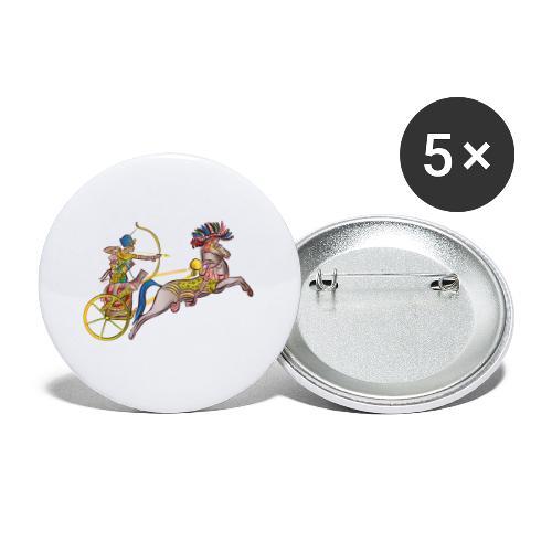 Pharao mit Streitwagen - Buttons klein 25 mm (5er Pack)