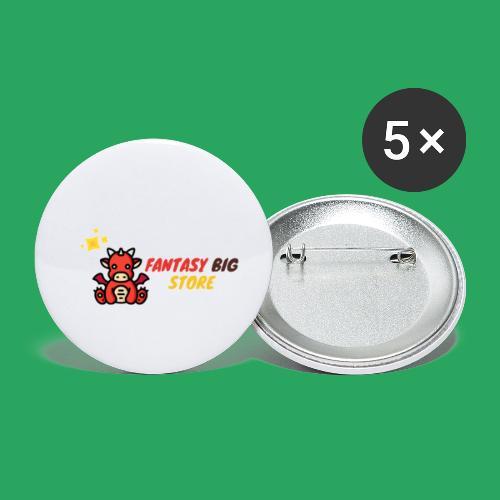 Fantasy big store - Confezione da 5 spille piccole (25 mm)