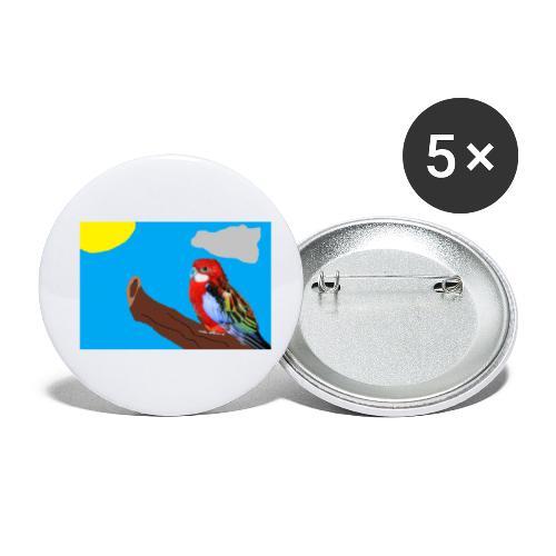 fantasimm 3 - Confezione da 5 spille piccole (25 mm)
