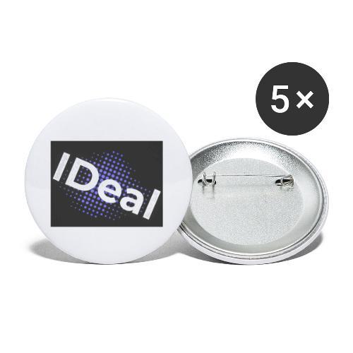 IDeal loggo - Små knappar 25 mm (5-pack)