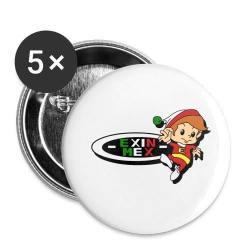 Logo EXIN MEX - Paquete de 5 chapas pequeñas (25 mm)