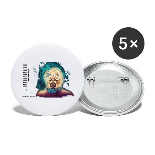 mask black - Buttons klein 25 mm (5er Pack)