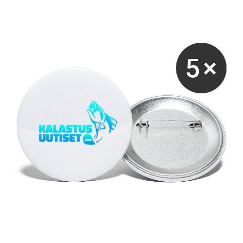 Kalastusuutiset - Rintamerkit pienet 25 mm (5kpl pakkauksessa)