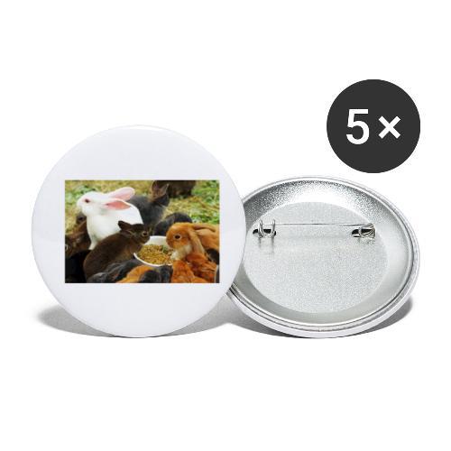 Streichelzoo am Kis Balaton - Buttons klein 25 mm (5er Pack)