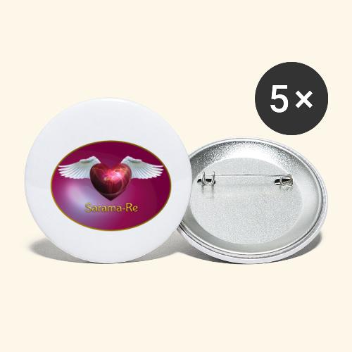 Sarama Re - Buttons klein 25 mm (5er Pack)