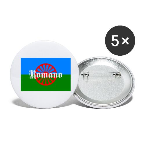 Flag of the Romanilenny people svg - Små knappar 25 mm (5-pack)