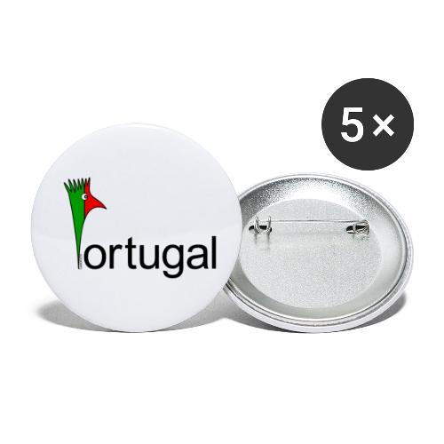 Galoloco - Portugal - Lot de 5 petits badges (25 mm)