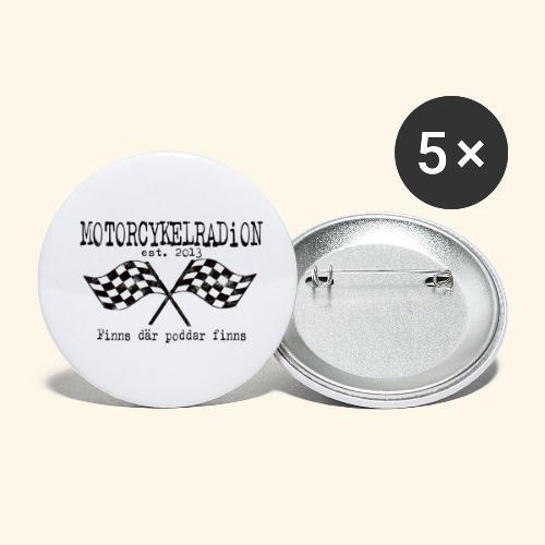 Motorcykelradion 2021 - Små knappar 25 mm (5-pack)