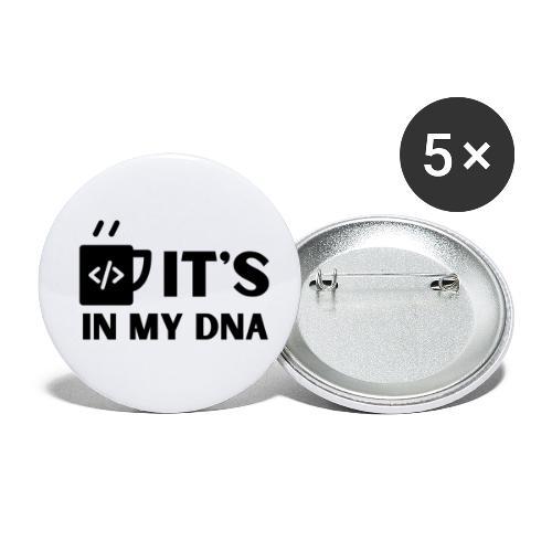 IT's in my DNA - Små knappar 25 mm (5-pack)