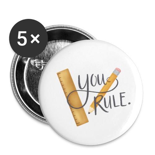 You rule! - Små knappar 25 mm (5-pack)