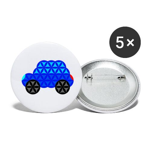 The Car Of Life - M01, Sacred Shapes, Blue/R01. - Buttons small 1''/25 mm (5-pack)
