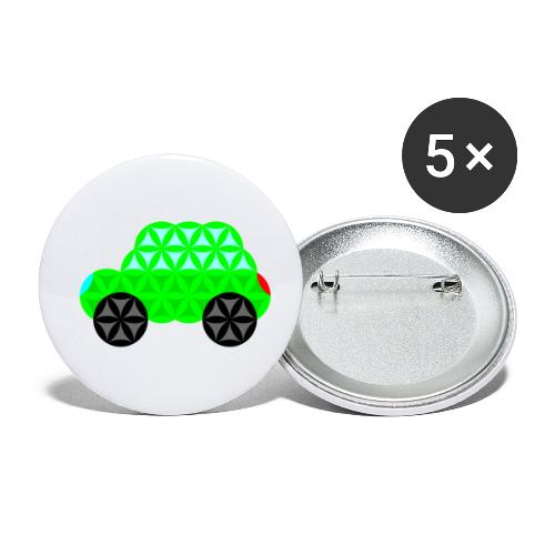The Car Of Life - M01, Sacred Shapes, Green/R01. - Buttons small 1''/25 mm (5-pack)