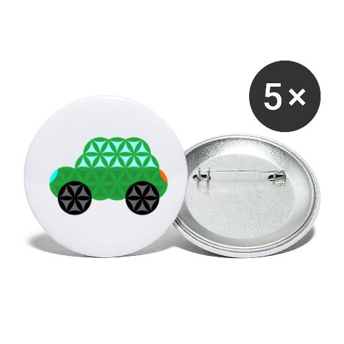 The Car Of Life - M01, Sacred Shapes, Green/363 - Buttons small 1''/25 mm (5-pack)