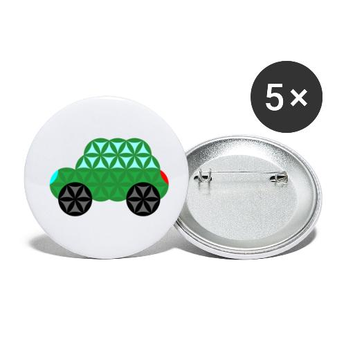 The Car Of Life - M02, Sacred Shapes, Green/363 - Buttons small 1''/25 mm (5-pack)